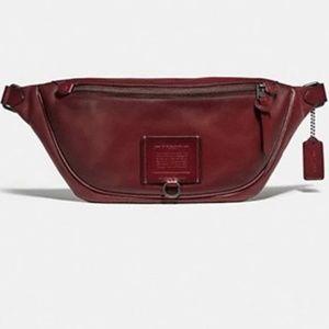 Brand New COACH Men's Utility Belt Bag in RED